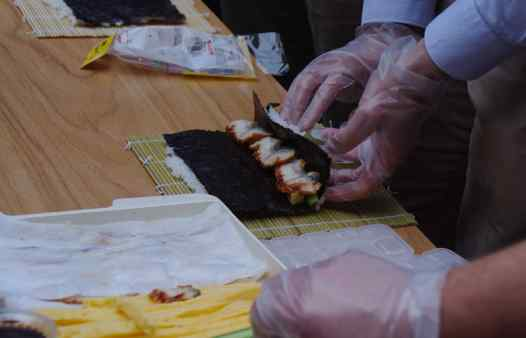 Sushi workshop aan zee